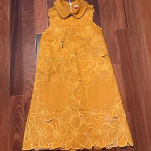 Fervour mustard yellow sleeveless dress xs